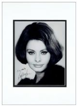 Sophia Loren Autograph Photo